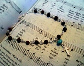 Brown and Turquoise Rosary Bracelet