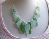Sea Glass Mermaid Necklace - Genuine Chesapeake Bay Sea Glass Jewelry
