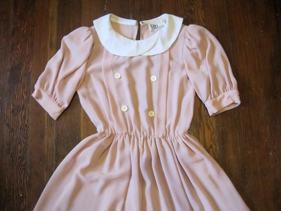 Vintage 40's-style Blush Pink Dress - Size 6