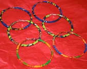 African fabric covered hoops