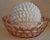 Jeannette Windsor Pink Depression Glass Cube Bowl