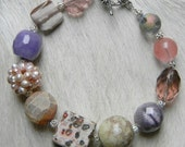 Planet Claire... Variety of Precious Stones, Pastel Colors, Abstract Medley