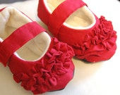 Red Ruffle Mary Janes