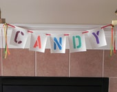 Fun Colorful HALLOWEEN CANDY Banner Bunting