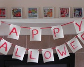 Super Scary HALLOWEEN banner written in blood red color