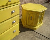 Jez4U Beautiful Yellow Side Tables This Listing is for the painting only See Before and After Picture Bring me your old furniture