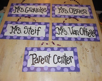 Jez4U Custom Wood Signs for for School Teacher's Classrooms Single Sided Back to School