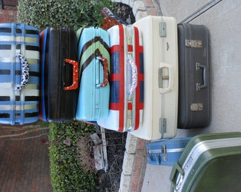 Jez4U Custom Vintage Young Boys/Teens or Girls SOCCER Suitcase Ready to Ship to you and you can Travel In Style