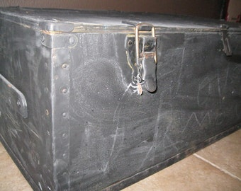 "Jez4U Custom Hand painted Wood Trunk/Footlocker for you 16"" X 13"" X almost 32""  Made to Order YOU Pick Your Colors Designs on this one, etc"