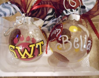 JEZ4U Reserved Swofford SWT College Christmas Ornaments