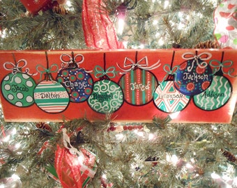 Jez4U Custom Wood Sign Made to Order Just for you You may Tell me the names on the ornaments and you are set