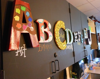 Jez4U ABC's Alphabet Letters Special Order for you Great for a gameroom, preschool, classroom or nursery