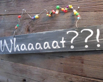 Jez4U Custom Wood with beaded handle Sign What would your sign say Tell me at checkout  24 inches by 2 inches by 2 cm