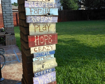 reclaimed fence pickets turned into Custom Painted Signs for you