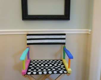 Jez4U Adorable Handpainted NEW Teacher GIFT A Directors Chair and a teacher sign to match made fun with cheerful paint