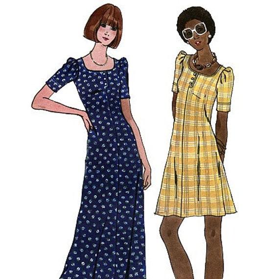 Butterick 3633 Vintage 70s Misses' Dress Sewing Pattern - Uncut - Size 14 - Bust 36
