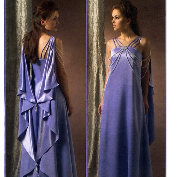 McCall's M4995 Costumes Star Wars Misses' Queen Amidala Padme Dress and Drape Sewing Pattern - Uncut - Size 6, 8, 10, 12