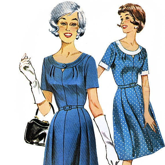 Butterick 9796 Vintage 1960s Misses' and Women's Dress Sewing Pattern - Uncut - Size 14 - Bust 34