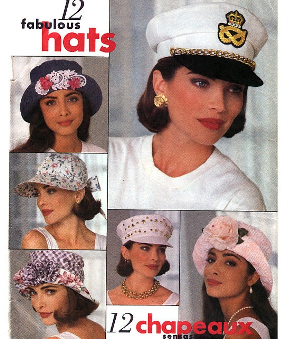 Butterick 6612 Misses' Hats Sewing Pattern - Uncut - All Sizes
