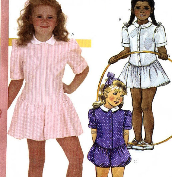 McCall's 9430 Vintage 80s Girls Romper Sewing Pattern - Uncut - Size 4