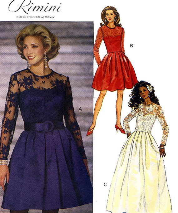 Butterick 6475 by Rimini Misses' Evening Dress Sewing Pattern - Uncut - Size 6, 8, 10 - Bust 30.5, 31.5, 32.5