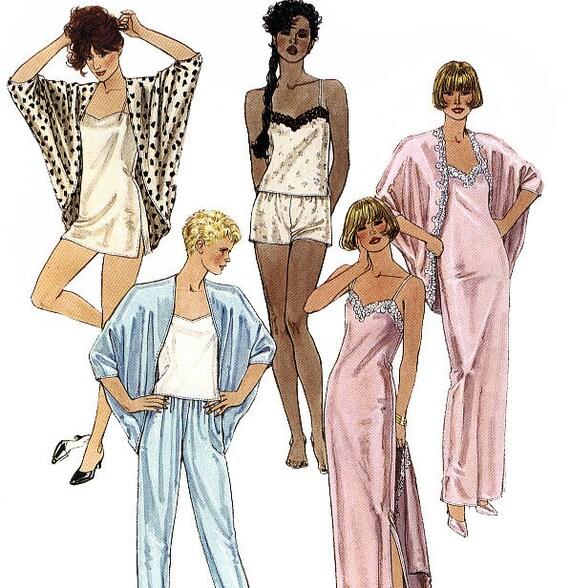 McCall's 4608 Vintage 80s Misses' Lingerie Sleepwear Sewing Pattern - Uncut - Size 14-16 - Bust 36-38
