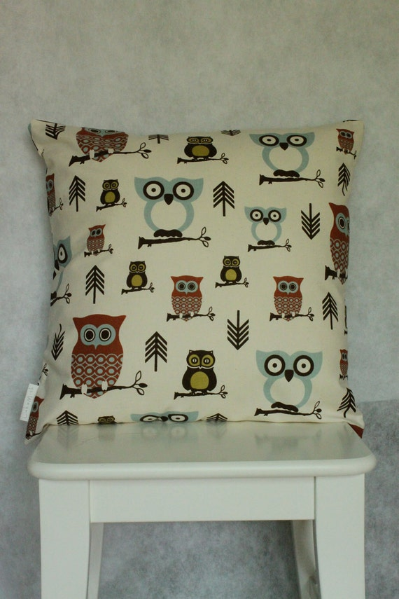 "RESERVED FOR JOAN Chevron Hoot Cushion/Pillow Cover 18"" (46 cm)"