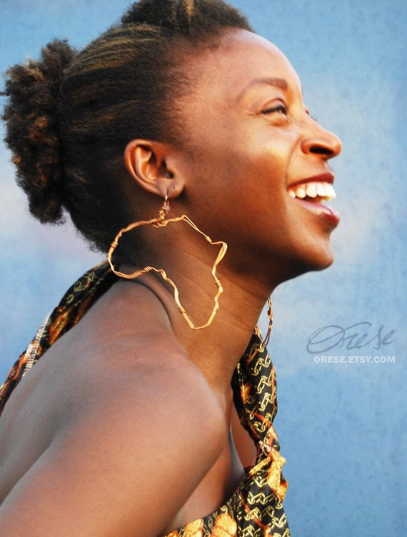 Origin - Extra Small Africa Continent Earrings