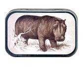 African Hippopotamus Mint Tin