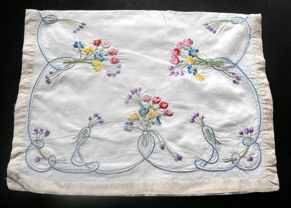 RESERVED FOR SERAPHINA French Vintage Lingerie Case Charming Embroidery for Pillow Cover