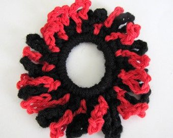 Red And black Looped  Scrunchie