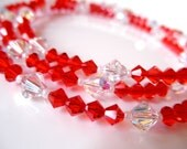 Romantic Red Swarovski Crystal Eyeglass Chain Necklace Lanyard - Gift Ideas for Women - Reading Glasses Chain - Bright Red Glasses Chain