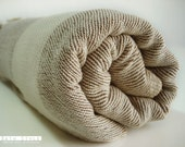 SALE-Turkish Towel A Peshtemal-SOFT Brown