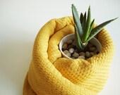 Turkish BATH Towel Peshtemal - Soft Cotton - Yellow