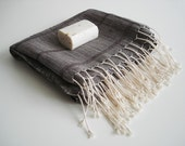 Premium Turkish BATH Towel Peshtemal - LINEN - Dark Brown