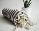 Turkish BATH Towel Peshtemal - Gray