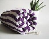 Turkish BATH Towel Peshtemal - Dark Purple