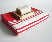 Turkish BATH Towel Handwoven Peshtemal - SOFT - Red