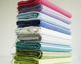 SALE 50 OFF/ Turkish Beach Bath Towel / Classic Peshtemal / Orange / Wedding Gift, Spa, Swim, Pool Towels and Pareo