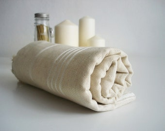Turkish BATH Towel Peshtemal - Cotton - Natural Color