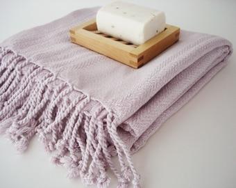 SALE 50 OFF / Turkish Beach Bath Towel / Bamboo - Cotton / Pink Color