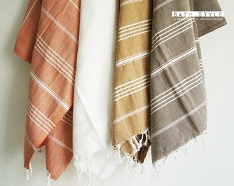 SALE 50 OFF / Turkish Beach Bath Towel / Classic Peshtemal / Brown / Wedding Gift, Spa, Swim, Pool Towels and Pareo