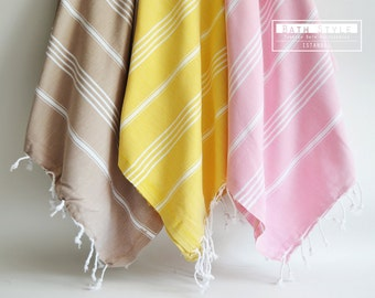 SALE 50 OFF/ Turkish Beach Bath Towel / Classic Peshtemal /  / Wedding Gift, Spa, Swim, Pool Towels and Pareo