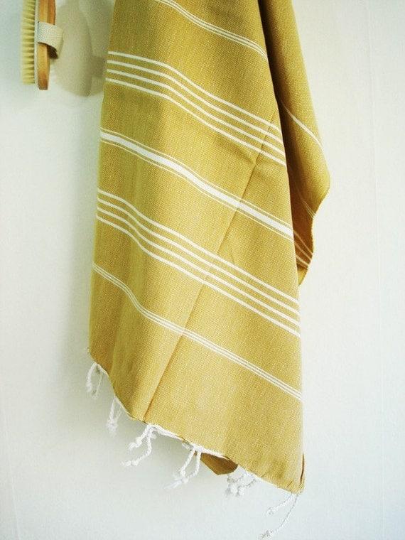 SALE-Turkish Towel A Peshtemal-Mustard
