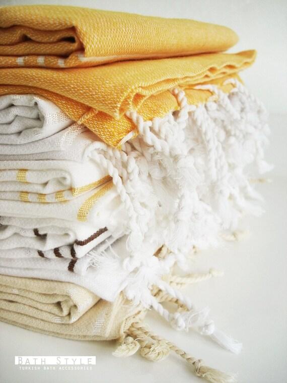 SALE-Turkish Towel A Peshtemal-Yellow
