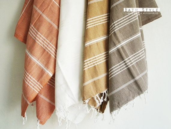 Turkish BATH Towel - Classic Peshtemal - Dark Mustard