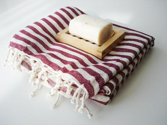 Turkish BATH Towel Peshtemal - Claret Red