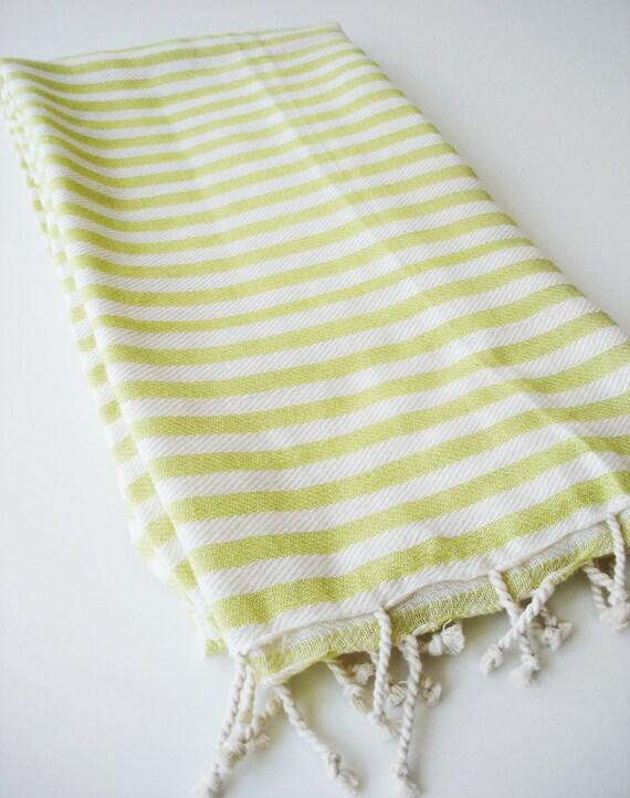 Turkish BATH Towel Peshtemal - Yellow Green