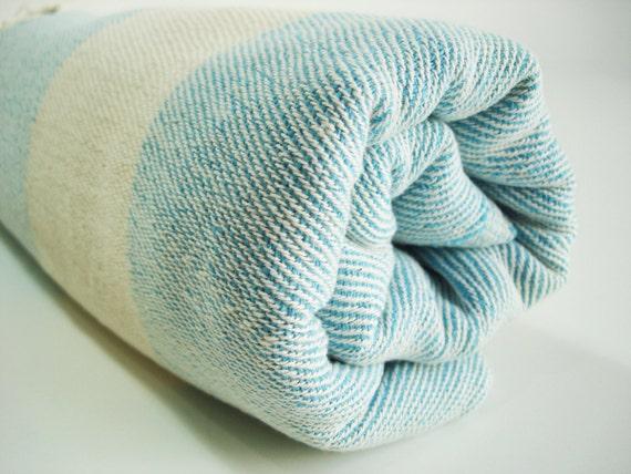 Turkish BATH Towel Peshtemal and Peshkir Set - SOFT - Blue