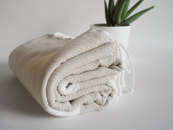 Turkish BATH Towel Peshtemal - Beige